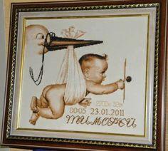 Schemi gratis da realizzare a Filet Punto Croce Maglia Uncinetto e Ricamo Cross Stitch Baby, Cross Stitch Charts, Birth, Knitting, Frame, Crafts, Engle, Perler, Knit Cardigan