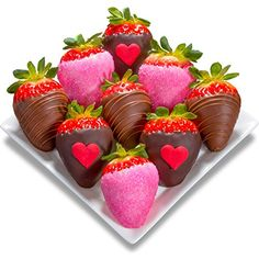 Golden State Fruit 9 Piece Love Bites Valentine Chocolate Covered Strawberries