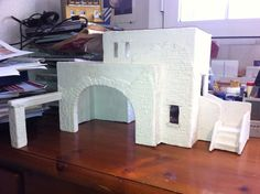 En el proceso del Belén Christmas Village Display, Christmas Nativity Scene, Christmas Villages, Christmas Decorations, Christmas Ornaments, Clay Houses, Miniature Houses, Diy Nativity, Diy Y Manualidades