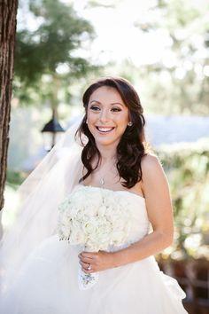 Beaming bride | Photography: Sara Wight - www.sarawightphotography.com/  Read More: http://www.stylemepretty.com/2015/05/20/glamorous-lyndhurst-castle-wedding/