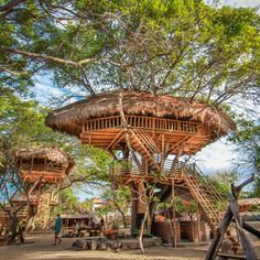 """""""Tree House, Nusa Dua Bali"""" the pirates bay restaurant bali Vacation Places, Vacation Trips, Wild Pictures, Voyage Bali, Bali Holidays, Hotel Concept, Destinations, Villa, Eco Friendly House"""