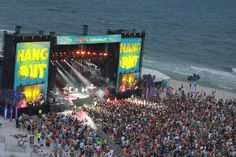 Nighttime fun at the Hangout Music Festival in Gulf Shores!