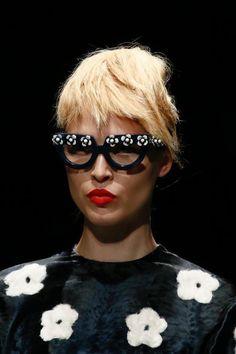 211ce22e56de Bold frames seen at Prada Spring 2013 Eyewear