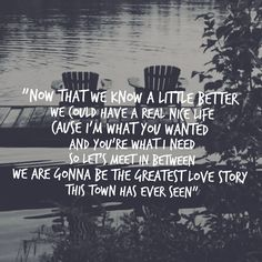 """LANco """"American Love Story"""" - I don't like country 🎶 much but when your man lets this one play. you tend to lean into it 🙂 Song Lyric Quotes, Story Lyrics, Love Song Quotes, Love Songs Lyrics, Smile Quotes, Luke Combs Lyrics, Love Quotes For Her, Cute Love Quotes, Country Love Song Lyrics"""