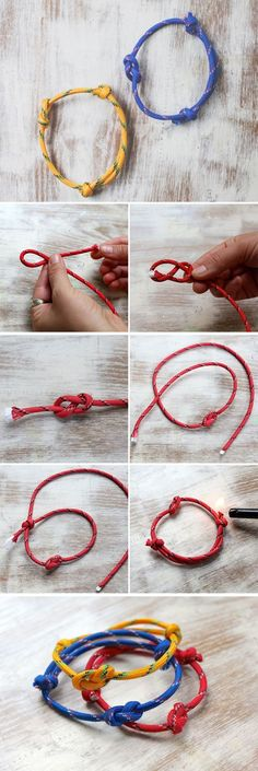 DIY 3 Last Minute Rope Bracelets for Papa the knot website -.- DIY 3 Last Minute Seil Armbänder für Papa the knot website – Hochzeit Ideen DIY 3 Last Minute Rope Bracelets for Papa the knot website - Diy Bracelets Easy, Bracelets For Men, Handmade Bracelets, Rope Bracelets, Infinity Bracelets, Infinity Jewelry, Fashion Bracelets, Fashion Jewelry, Diy Jewelry Tutorials