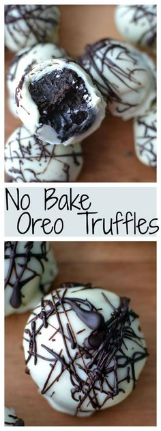 Whip these savory Oreo truffles up in a snap, with just 4 ingredients needed and no baking necessary! #nobake #Oreos                                                                                                                                                     More