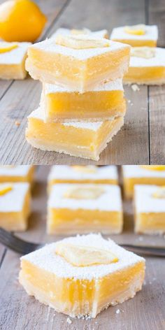 A thick layer of tangy lemon curd baked over top of a tender buttery shortbread crust. These lemon bars are an explosion of zesty lemon flavor. {Video Recipe} bars Thick Lemon Bars with Shortbread Crust (video) Lemon Desserts, Lemon Recipes, No Bake Desserts, Baking Recipes, Cookie Recipes, Baking Desserts, Lemon Curd Dessert, Light Desserts, Bar Recipes