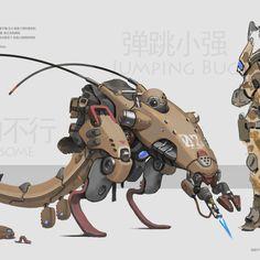 -- Share via Artstation iOS App, Artstation © 2015 Spaceship Design, Robot Design, Robot Concept Art, Armor Concept, Character Concept, Character Art, Character Design, Robot Animal, Design Creation