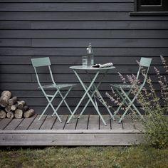 Salon de jardin Isa DCB Garden Table + 4 fauteuils en résine ...