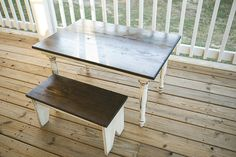 child's turned leg table and vincent bench by thehillathopewell,
