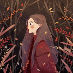 """318 curtidas, 24 comentários - Chaymaa sobhy (@chaymaadraws) no Instagram: """"I miss Autumn so much,can't function well in this heat  . . #illustration…"""""""