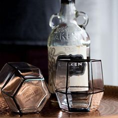 Metallic style edge hand-blown tumbler glasses inspired by a modern and minimalistic twist to your everyday drink set. The handy geometric form makes stacking and storage easy. Includes 2 Glasses CARE: Hand Wash Only SIZE: 21 x 10 x cm Geometric Form, Hand Washing, Tumbler, Perfume Bottles, Minimalist, Packing, Glasses, Drinks, Metal