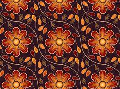 "Seamless Pattern ""Autumn Prints"" by ColourPhreak (""Passing Alongside"" by ColourPhreak): autumn, floral, flowers, leaves, vines, COLOURlovers, CC-BY-NC-SA, design."