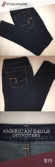 AMERICAN EAGLE OUTFITTERS SKINNY LEGGING JEANS Size 12 Straight Reg. has stretch and in perfect condition  american eagle outfitters Pants Skinny