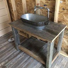 Barn Sink, Rustic Bathroom Sinks, Galvanized Tub Sink, Rustic Kitchen Sinks, Industrial Faucet, Sink Faucets, Laundry Sink, Sink, Outdoor Kitchen Sink