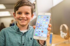 Levi aged 10, shows off a #iPhone6sPlus in rose gold.