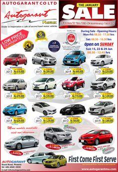 AUTOGARANT CO. LTD - The January Sale. Tel: 686 6060 / 686 3030