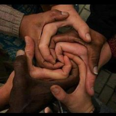 End racism - what a lovely image and message www.lovesweetfreedom.co.uk