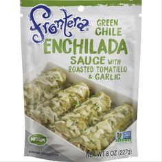 Bring bold flavor to your enchiladas with this Green Chile Enchilada Sauce from Fronteraae. With roasted tomatillo and garlic, it brings the perfect amount of kick to your meal. Whether you're making chicken enchiladas or beef enchiladas, you'll love the zesty flavor they'll have with this sauce. Inspired by Chef Rick Bayless New Mexico Green Chili Recipe, Green Chili Recipes, Mexican Cooking, Mexican Food Recipes, Snack Recipes, Cooking Recipes, Pasta Recipes, Chicken Recipes, Green Chile Enchilada Sauce