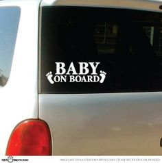 Baby on Board Car Decal/sticker by StickTak Stickers. $3.75. Default colour is white. Colours available: white or black. Please email us your colour preference after the purchase. Made from high quality AVERY brand removable vinyl (not repositionable). Welcome to our store STICKTAK Stickers.  We offer Baby on Board Stickers (Vinyl Decal).  Colours available: white or black. -------------------- !!! IMPORTANT: PLEASE EMAIL US COLOUR PREFERENCE FOR YOUR STICKER after ...
