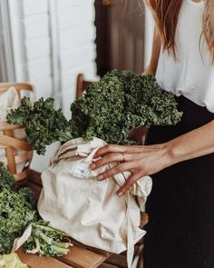 Canvas bag for buying greens without plastic #MyLifeWithoutPlastic