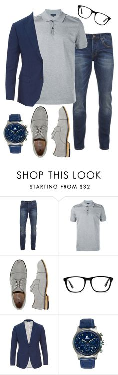 """Men's Fashion"" by hsheril ❤ liked on Polyvore featuring Scotch & Soda, Lanvin, X-Ray, Ace, Dolce&Gabbana, men's fashion and menswear"