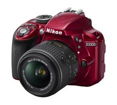 Nikon D3300 24.2 MP CMOS Digital SLR with Auto Focus-S DX NIKKOR 18-55mm f3.5-5.6G VR II Zoom Lens (Red) picture 01