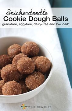 These low carb snickerdoodle cookie dough balls are so simple to whip up that you'll get your sweet cinnamon-y fix faster than ever! They're paleo, grain-free, sugar-free, dairy-free, egg-free, low carb, and THM friendly!