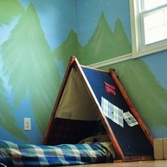 Kid tents are built from easy to find, cheap materials and a little creative labor.