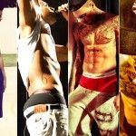 Who has the best shirtless bod, Chris Brown vs. Drake?  I vote Drake!