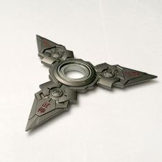 Genji inspired Fidget Spinner. For all shuriken lovers out there with a twist of a futuristic weapon.