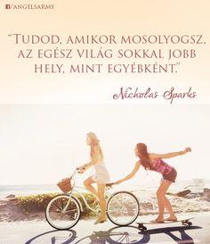Nicholas Sparks idézete a mosolyról. A kép forrása: Angels' Army