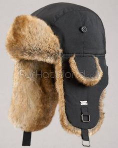 Shop FurHatWorld for the best selection of Men's Faux Fur Trapper Hats. Buy the Black Aviator Hat with Faux Fur for Men by FRR with fast same day shipping. Aviator Hat, Mens Fur, Fur Accessories, Trapper Hats, Black B, Hats For Men, Hat Men, Hat Sizes, Faux Fur