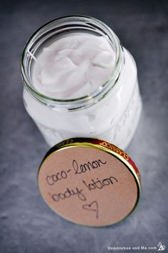 Homemade All-Natural Coco-Lemon Body Lotion