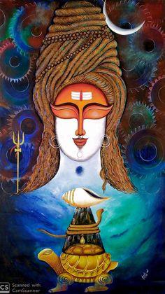 Photos Of Lord Shiva, Lord Shiva Hd Images, Durga Painting, Lord Shiva Painting, Pichwai Paintings, Indian Art Paintings, Shiva Art, Hindu Art, Mahakal Shiva