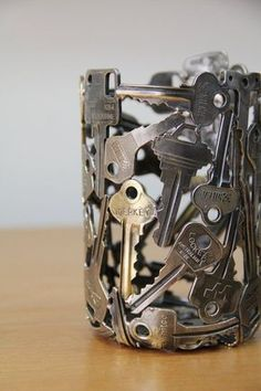 Old Keys Recycling Bedroom Desk Lamp More