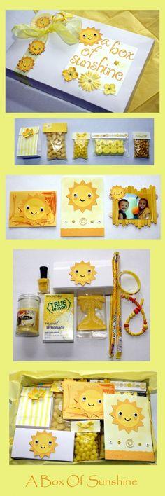 A Box Of Sunshine :) I like the google eyes on the suns
