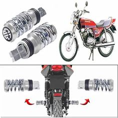 CAPE SHOPPERS Spring Coil Style Bike Foot Pegs Set of 2 for Bajaj Kb 4-S(Chrome): Amazon.in: Car & Motorbike Spring Fashion, Cape, Chrome, Amazon, Style, Fashion Spring, Mantle, Swag, Cabo