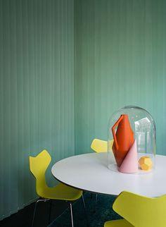 Studio Pepe for Spotti Milano: Arne Jacobsen Grand Prix chairs, designed in 1957. Photograph by Andrea Ferrari. / Studio Pepe