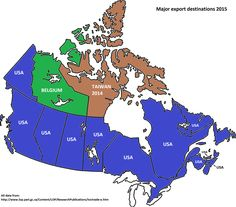 Each Canadian Province Territory Biggest Export Destination