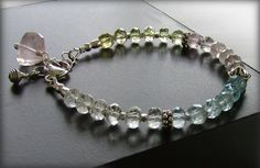 Spring Bracelet  Mixed Pastel Gemstones and by jQjewelrydesigns, $54.00