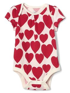GAP Hearts short sleeves bodysuit $14.95