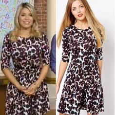 Where did Holly Willoughby get her animal print dress worn on This Morning 09/10/2013? - Style on Screen