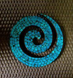Coru Swirl Mosaic Wall Hanging Art Funky Boho Cute Handmade