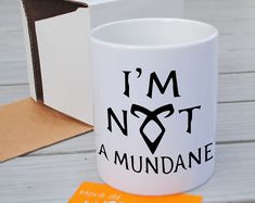 Your place to buy and sell all things handmade Angelic Power Rune Mug Cup Shadohunters The Mortal Instruments I am not a mundane Angelic Power Rune, Mermaid Crafts, Shadowhunters The Mortal Instruments, Candle Containers, City Of Bones, Candle Shop, The Infernal Devices, Malec, Shadow Hunters