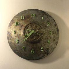 vw hubcap clock