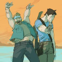 """Tat-bros!"" Herc & Jason Brody from Far Cry 3 http://vicious-mongrel.tumblr.com/ -- #farcry3 #fc3 #jasonbrody"