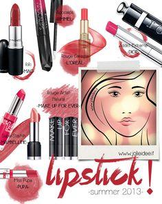 Rossetti/Lipstick Estate/Summer 2013 - I Colori e i Trend per le vostre labbra #lipstick #shoppinglist