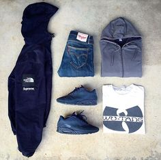 Outfit grid - Hoodie and jeans Outfits Hombre, Swag Outfits, Casual Outfits, Men Casual, Fashion Outfits, Hype Clothing, Mens Clothing Styles, Street Outfit, Street Wear