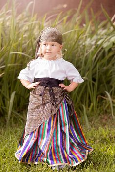 Little Gypsy Halloween Costume - Kids Costume - sizes 2T to 10 years - Toddler Girl - Fortune Teller Costume - Birthday Outfit